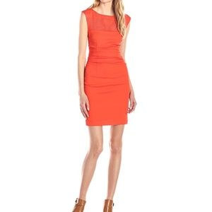 Tracy Reese Inset T Piece Persimmon dress